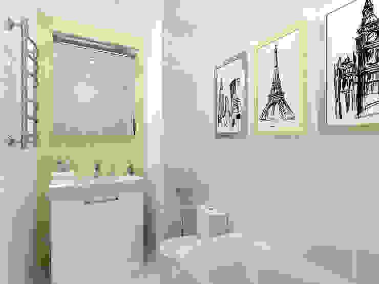 Студия-квартира для творческой пары Ванная комната в стиле модерн от OK Interior Design Модерн