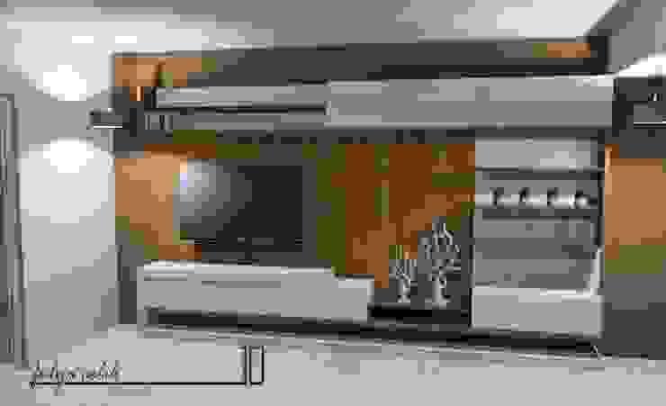 cyprus interiors – modern tv ünite ön görünüm: modern tarz , Modern Ahşap Ahşap rengi