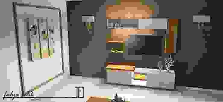 cyprus interiors – LUNA tv ünitesi: modern tarz , Modern Ahşap Ahşap rengi