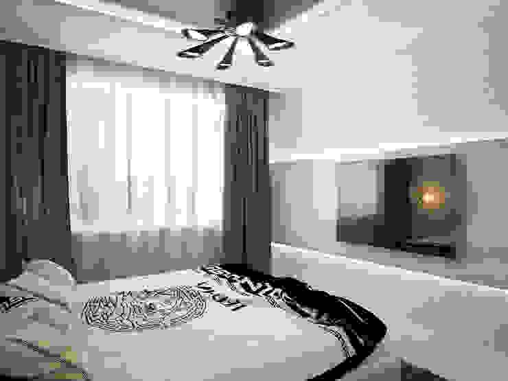 Дизайн проект квартиры 98 м2 Спальня в стиле модерн от Artstyle Модерн