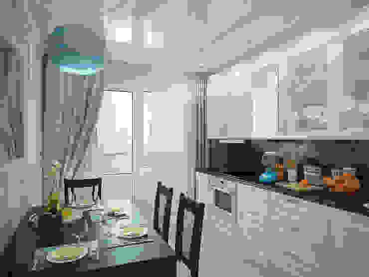 Дизайн проект квартиры 75,2 Кухня в классическом стиле от Artstyle Классический