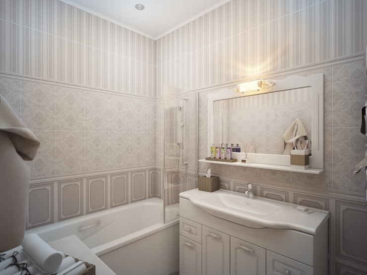 Дизайн проект квартиры 75,2 Ванная в классическом стиле от Artstyle Классический