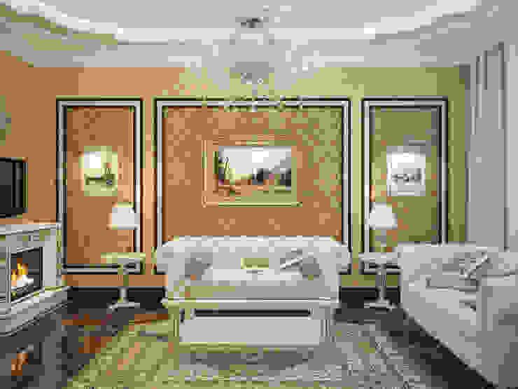 Дизайн-проект гостиной Гостиная в классическом стиле от Artstyle Классический