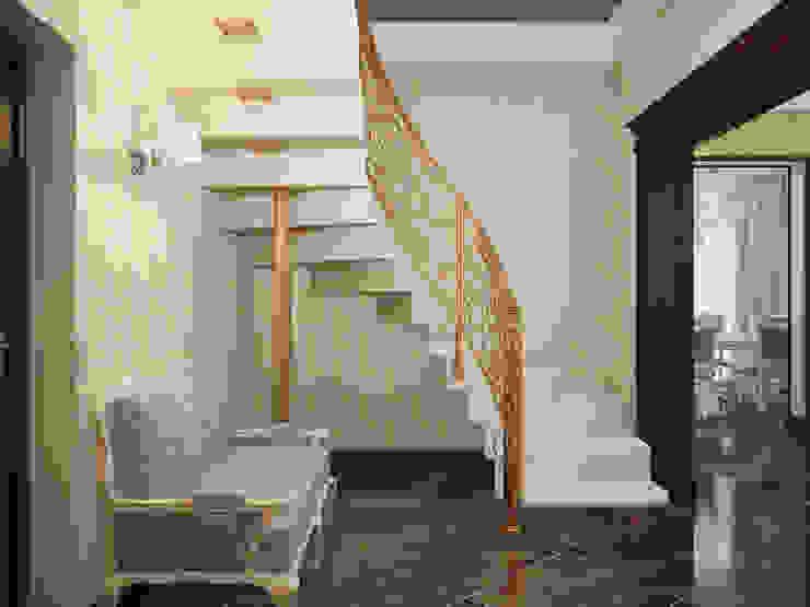 Дизайн-проект гостиной Коридор, прихожая и лестница в классическом стиле от Artstyle Классический