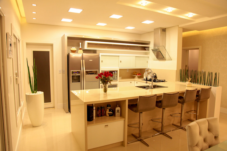 Cocinas de estilo  por Cristiane Rauber Arquitetura | Construção