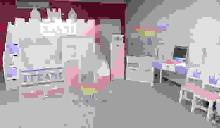 Preciosa litera estilo castillo de camas y literas infantiles kids world Clásico Derivados de madera Transparente