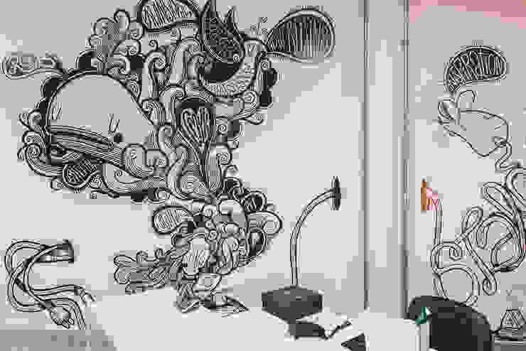 Artes parede Lojas & Imóveis comerciais modernos por Novità - Reformas e Soluções em Ambientes Moderno