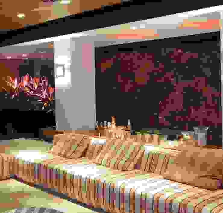Casa Cor Santa Catarina 2014 Salas de estar modernas por ANNA MAYA ARQUITETURA E ARTE Moderno