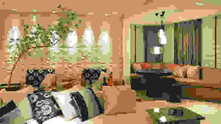 Apartamento Itacorubi Gran Classic 1 Salas de estar modernas por ANNA MAYA ARQUITETURA E ARTE Moderno