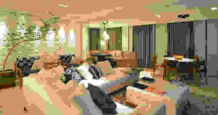 Apartamento Itacorubi Gran Classic 1 Varandas, alpendres e terraços modernos por ANNA MAYA ARQUITETURA E ARTE Moderno