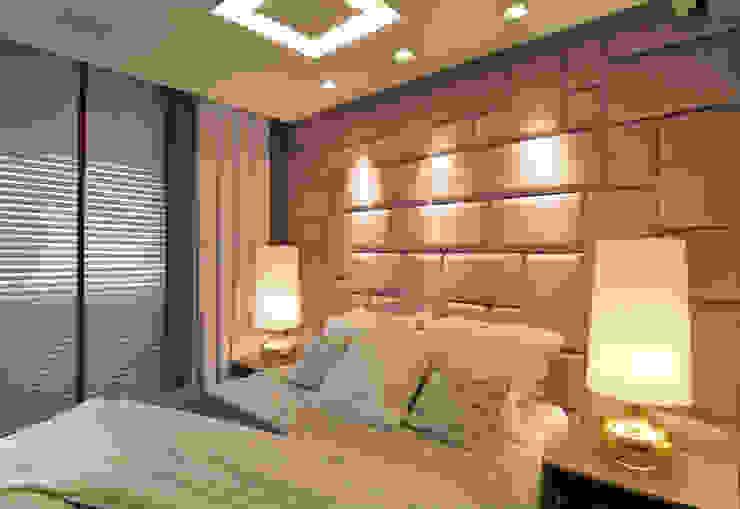 Apartamento Itacorubi Gran Classic 1 Quartos modernos por ANNA MAYA ARQUITETURA E ARTE Moderno Têxtil Ambar/dourado