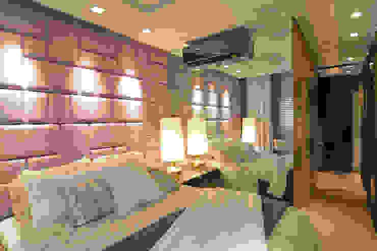 Apartamento Itacorubi Gran Classic 1 Quartos modernos por ANNA MAYA ARQUITETURA E ARTE Moderno Vidro