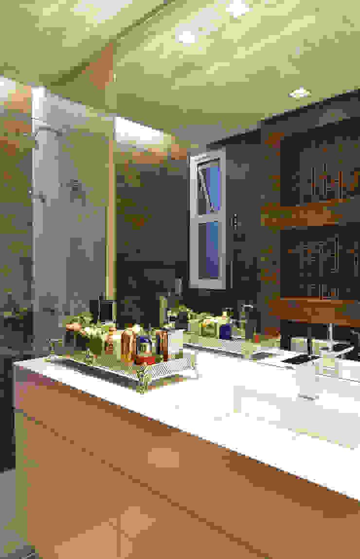 Apartamento Itacorubi Gran Classic 1 Banheiros modernos por ANNA MAYA ARQUITETURA E ARTE Moderno Cerâmica