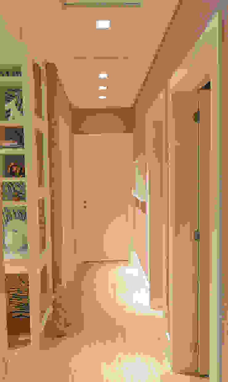 Apartamento Itacorubi Gran Classic 1 Corredores, halls e escadas modernos por ANNA MAYA ARQUITETURA E ARTE Moderno