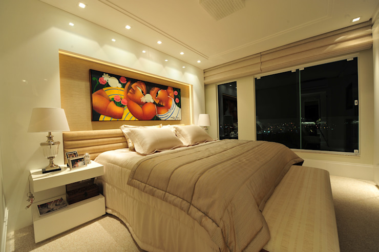 Modern style bedroom by ANNA MAYA ARQUITETURA E ARTE Modern MDF