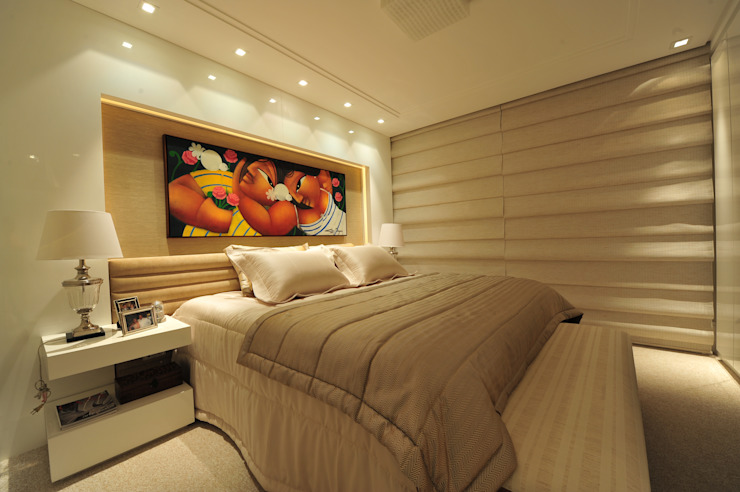 Modern style bedroom by ANNA MAYA ARQUITETURA E ARTE Modern Textile Amber/Gold