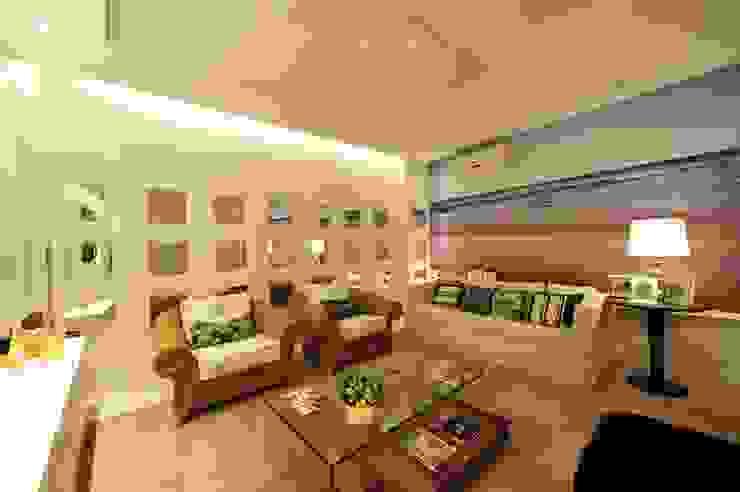 Apartamento Águas do Santinho Salas de estar modernas por ANNA MAYA ARQUITETURA E ARTE Moderno MDF