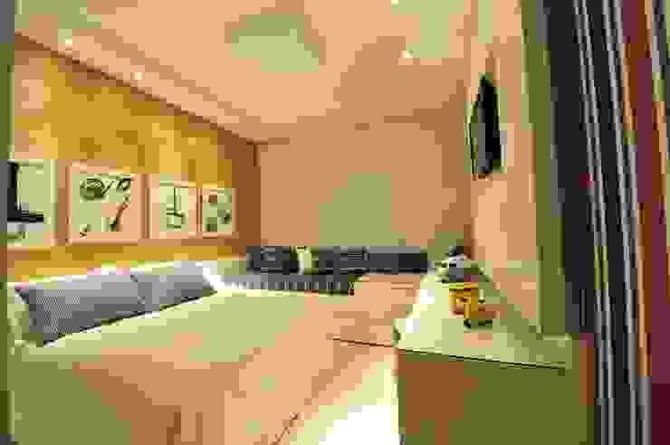 Apartamento Águas do Santinho Quartos modernos por ANNA MAYA ARQUITETURA E ARTE Moderno Sisal/palha Azul