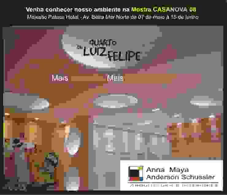 Modern nursery/kids room by ANNA MAYA ARQUITETURA E ARTE Modern Wood-Plastic Composite