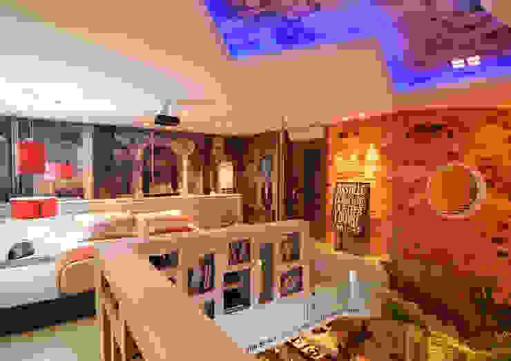 Dormitorios de estilo rústico de ANNA MAYA ARQUITETURA E ARTE Rústico Ladrillos