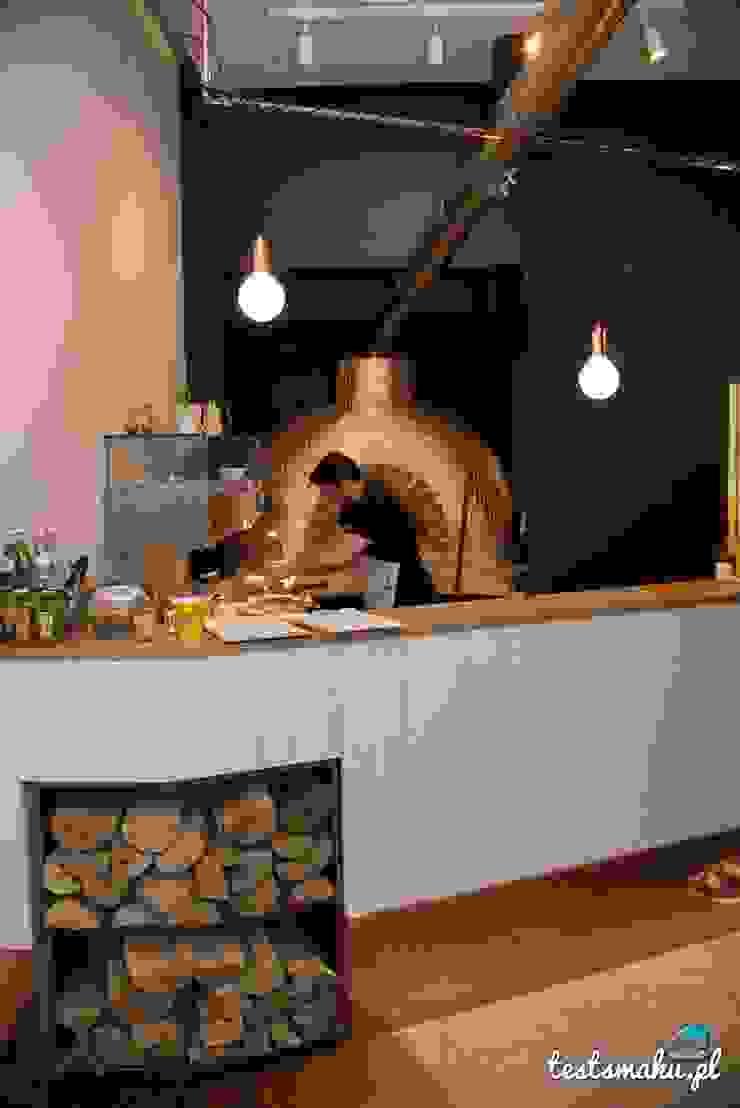 Bar - miedź i drewno od Zig Zag Industrialny