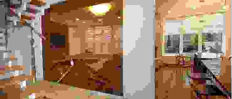 Дом в пригороде Черкасс Медиа комната в стиле минимализм от дизайн-студия Олеси Середы Минимализм