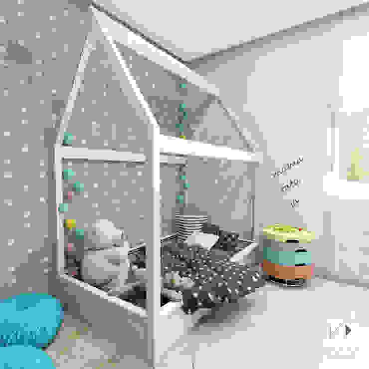 Dormitorios infantiles de estilo  por Architekt wnętrz Klaudia Pniak, Moderno