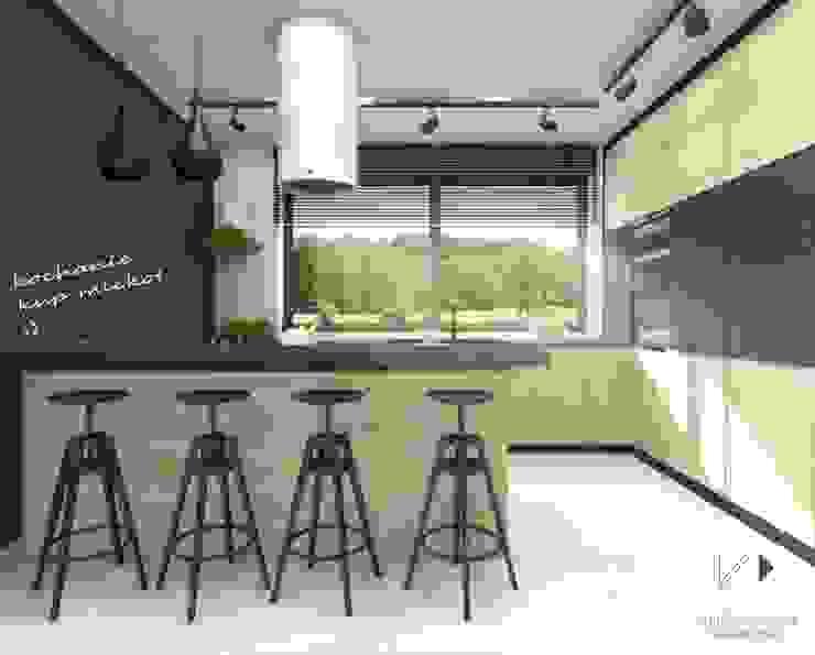 Przestronna kuchnia Nowoczesna kuchnia od Architekt wnętrz Klaudia Pniak Nowoczesny