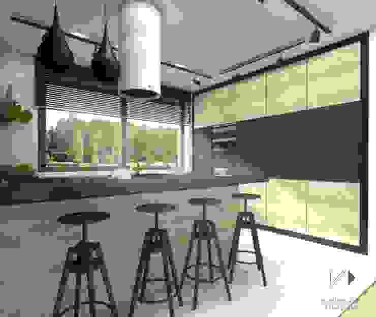 Kuchnia z miejscem barowym Nowoczesna kuchnia od Architekt wnętrz Klaudia Pniak Nowoczesny