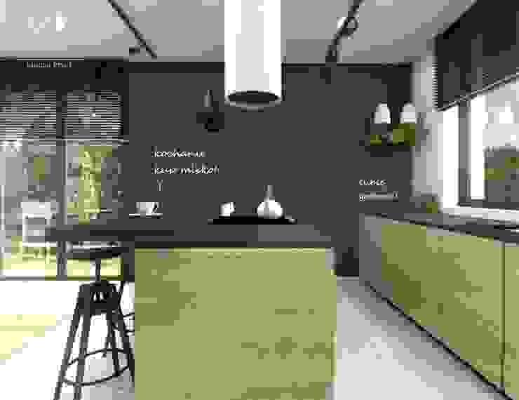 Ściana tablicowa w kuchni Nowoczesna kuchnia od Architekt wnętrz Klaudia Pniak Nowoczesny