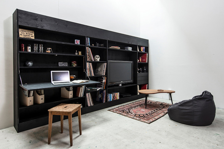 The living wall Till Könneker Living roomStorage Black