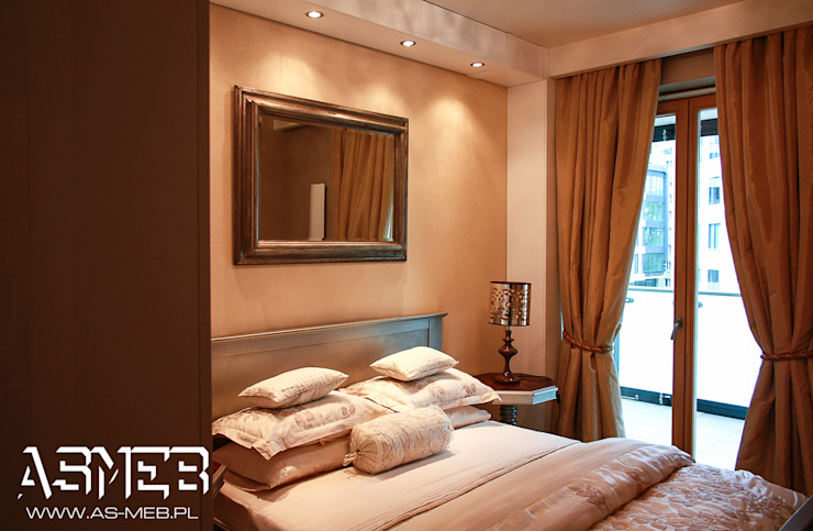 AS-MEB Modern style bedroom MDF Beige