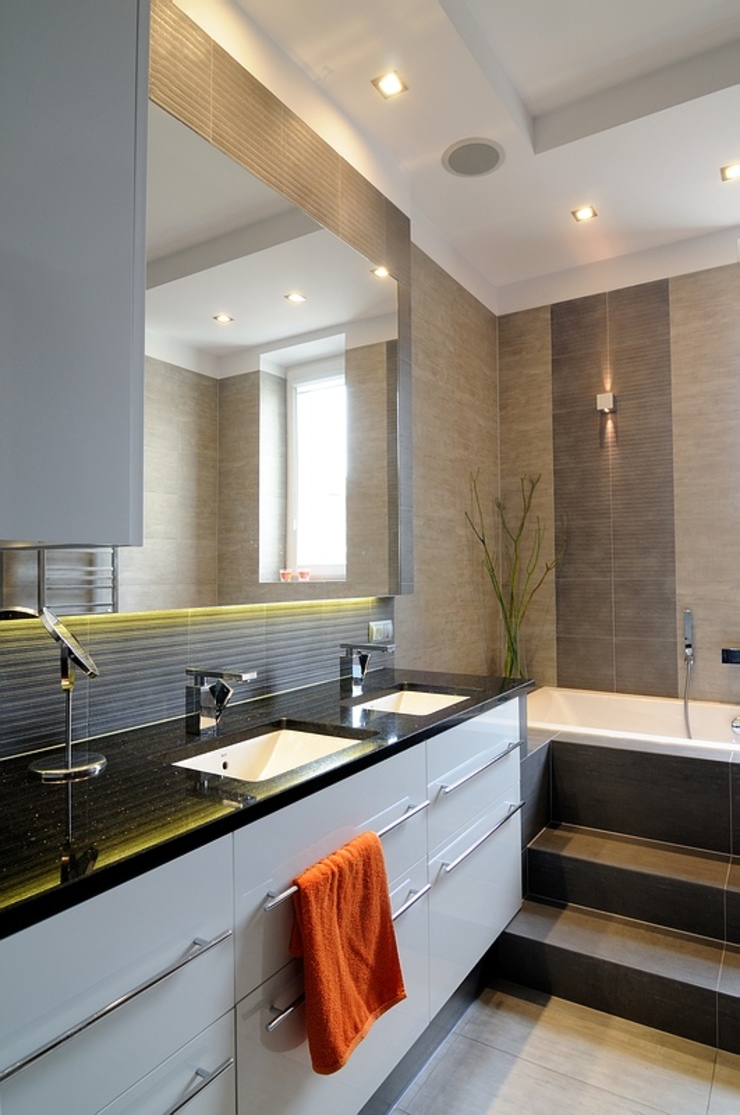 ARTEMA PRACOWANIA ARCHITEKTURY WNĘTRZ Modern Bathroom