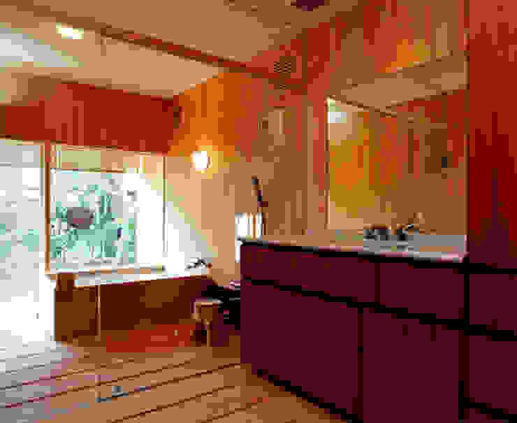桧風呂 オリジナルスタイルの お風呂 の 松井建築研究所 オリジナル