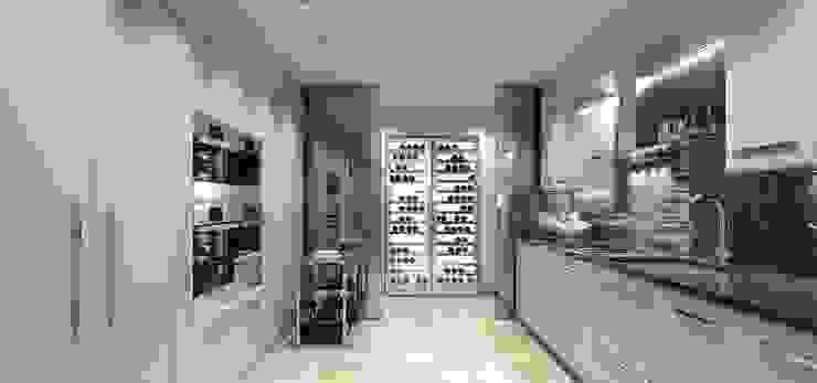Интерьер двухуровневой квартиры, Швейцария, Локарно Кухни в эклектичном стиле от LOFTING Эклектичный