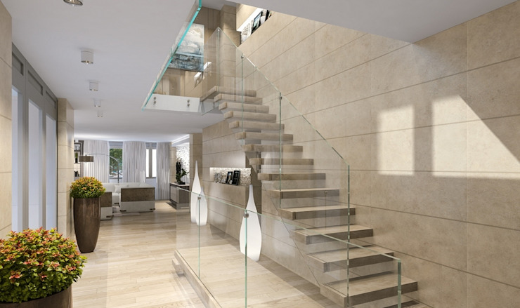 Eclectic style corridor, hallway & stairs by LOFTING Eclectic