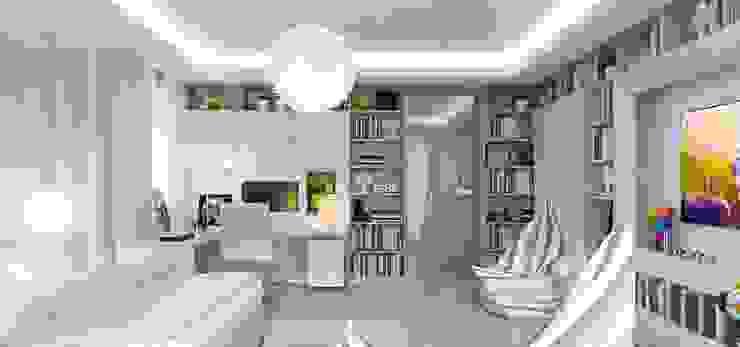 Интерьер двухуровневой квартиры, Швейцария, Локарно Детские комната в эклектичном стиле от LOFTING Эклектичный