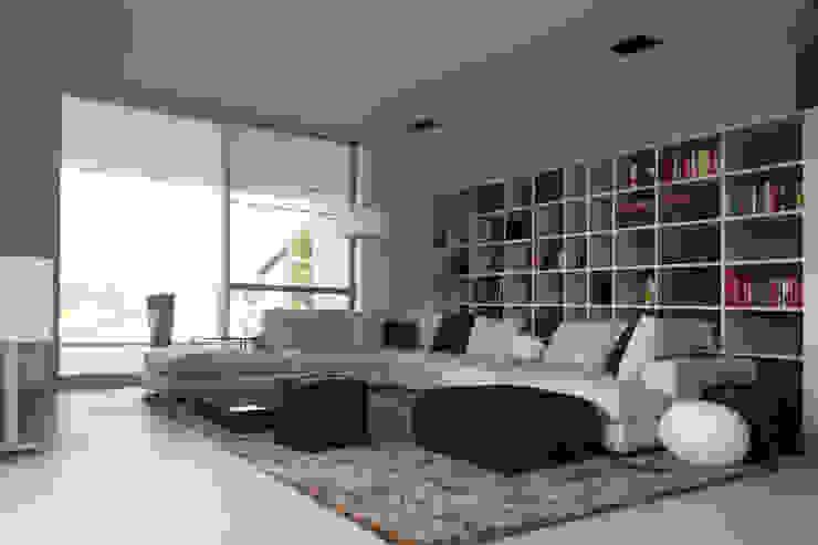 Haus P Moderne Wohnzimmer von Anthrazitarchitekten Modern