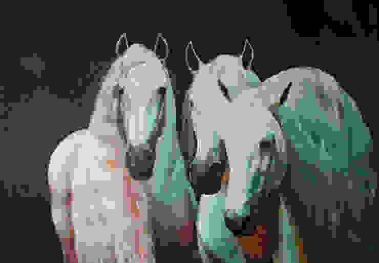 Lusitano's van www.paardenschilderijen.com Klassiek