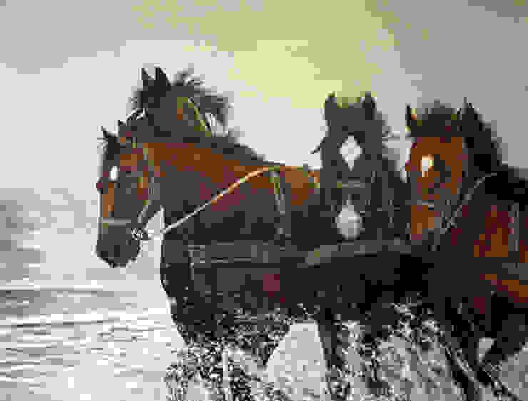 Amelandse paarden van www.paardenschilderijen.com Klassiek