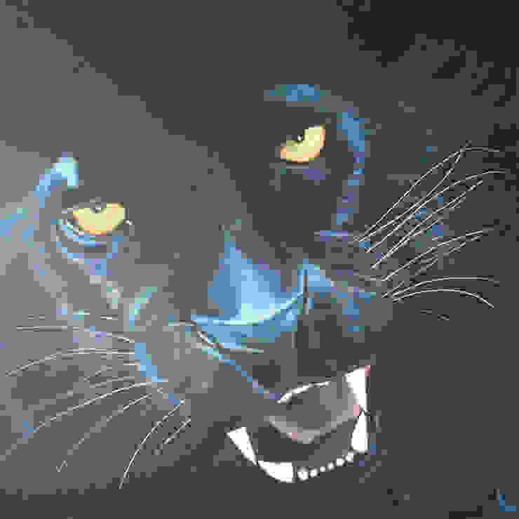 Black panther van www.paardenschilderijen.com Klassiek