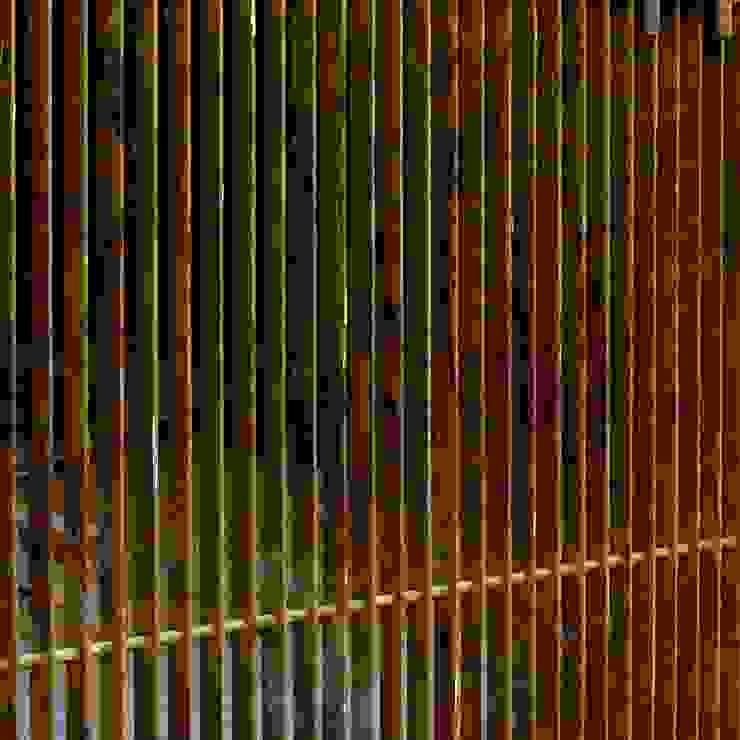 B HOUSE Asian style corridor, hallway & stairs by KIRON CHEERLA ARCHITECTURE Asian Iron/Steel