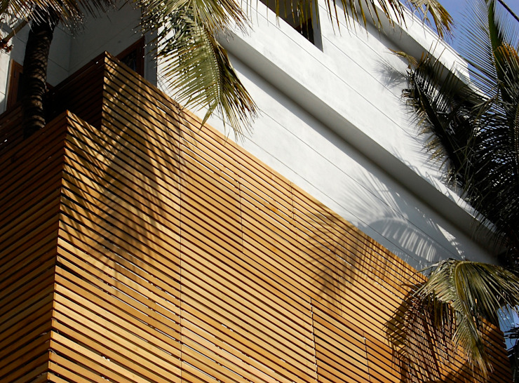 B HOUSE Asian style houses by KIRON CHEERLA ARCHITECTURE Asian Wood Wood effect