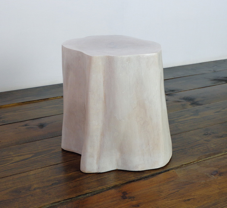 Pieniek bielony - stołek: styl , w kategorii  zaprojektowany przez Atelio,Skandynawski