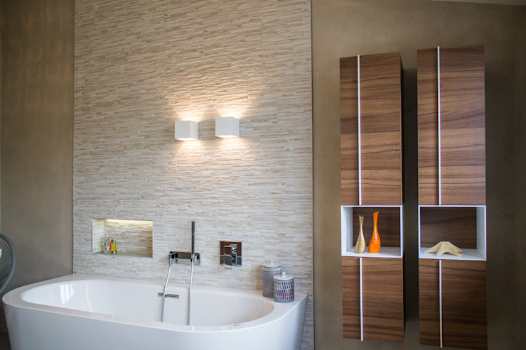 Umbau EFH Buchrain Moderne Badezimmer von MALMENDIER Innenarchitektur Modern