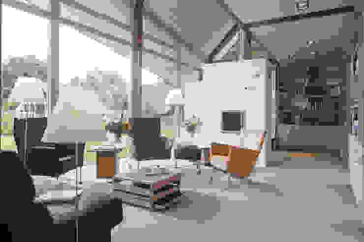 Den Ham 05:  Woonkamer door hamhuis architecten, Modern