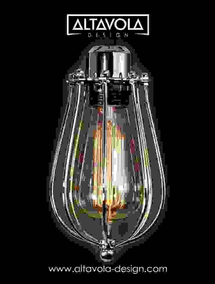 Lampa wisząca KOPENHAGEN LOFT CHROM od Altavola Design Sp. z o.o. Industrialny Matal