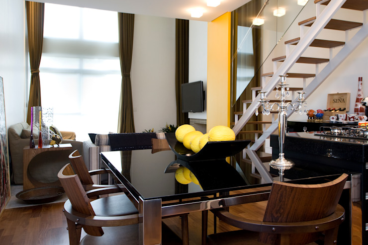 EVELIN SAYAR ARQUITETURA E INTERIORES Столовая комната в стиле модерн