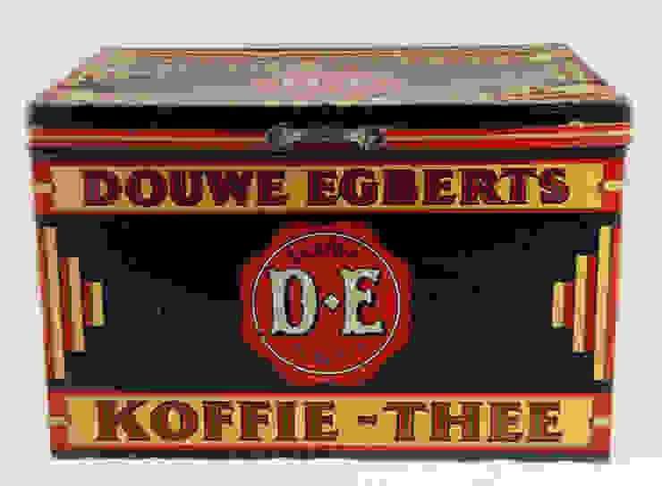 Vintage DOUWE EGBERTS Winkelblik van Smeerling Antiek & Restauratie Industrieel