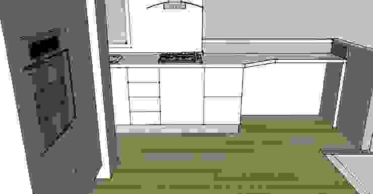 bozza 3D Cucina moderna di My Home Attitude - Barbara Sala Moderno